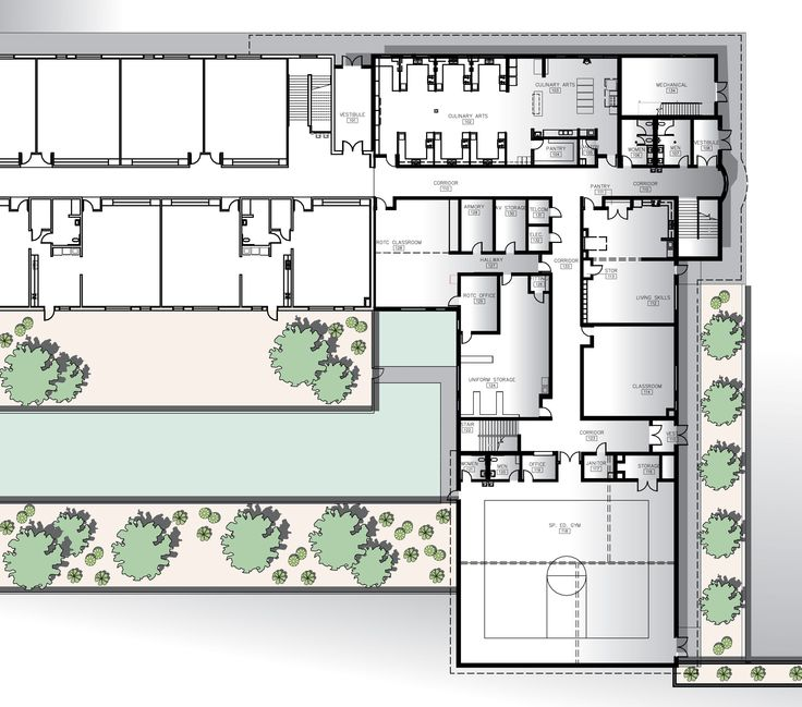 High school floor plans high school floor plan free for Building layout maker