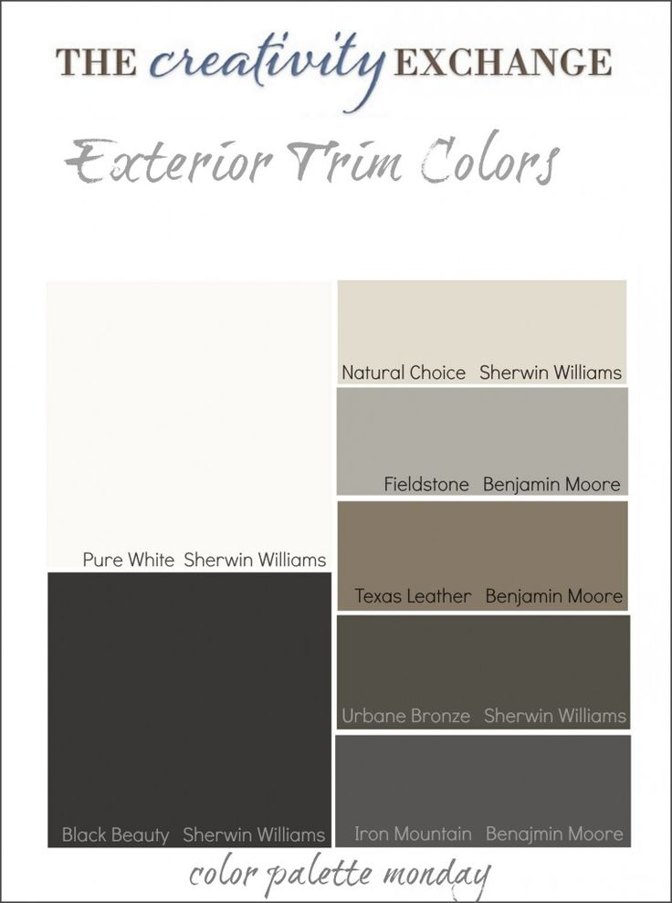 Round up of dependable exterior trim colors with home examples. Tips and tricks for choosing the perfect exterior trim color from The Creativity Exchange