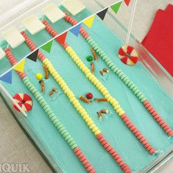 Swimming Pool Cake Designs | Olympic Swimming Pool Cake, Torch Cake Pops,  And Tons