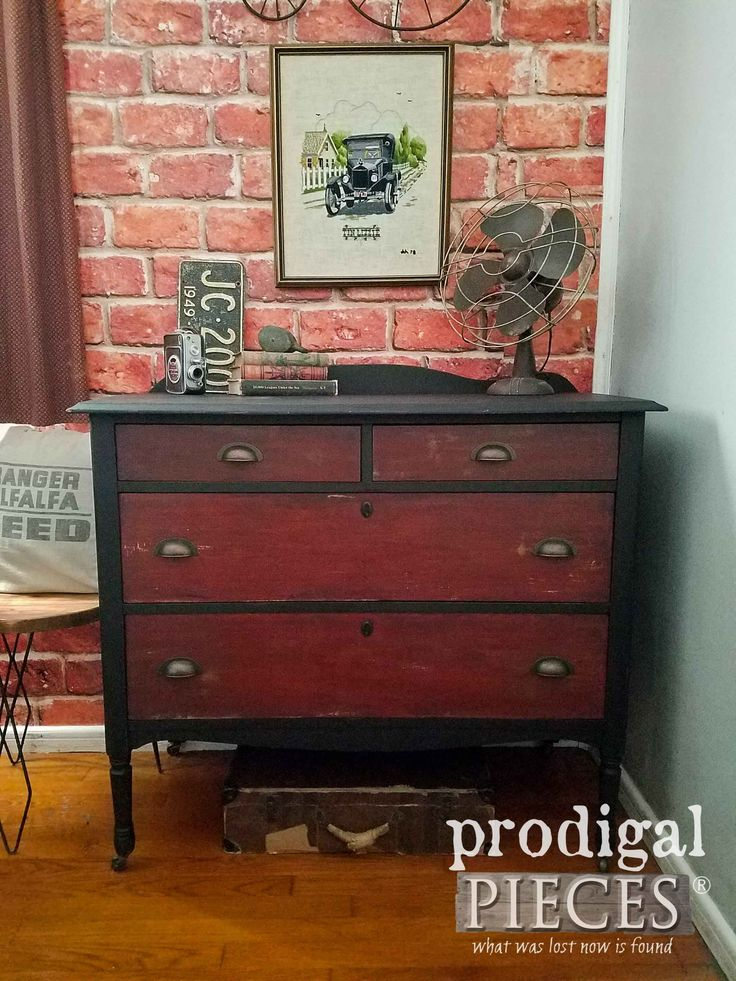 Looking to add storage and rustic style to your home? This rustic industrial chest of drawers is versatile for any part of your home. Entry, bedroom & more. Farmhouse, industrial decor available at Prodigal Pieces | prodigalpieces.com