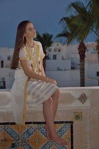 Sherazade à l'#HeureBleue, médina de #Mahdia, Tunisie. #orientalism