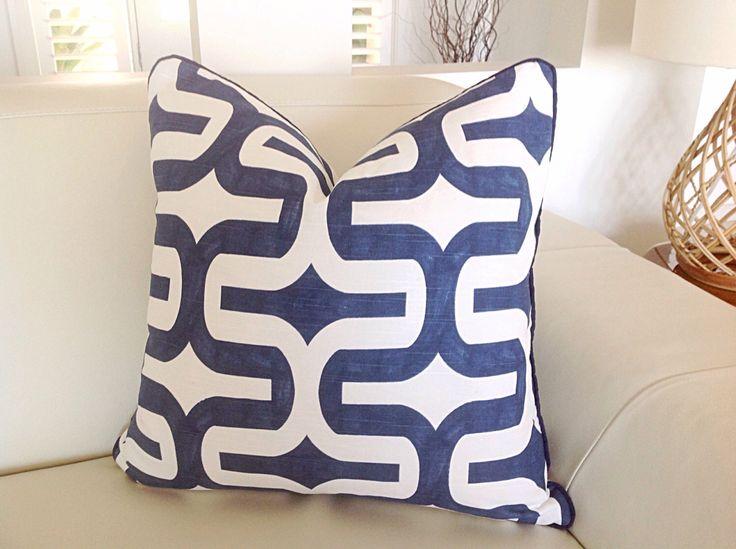 Royal Blue Cushions, Coral, Teal, Black, Grey Cushions Modern Pillows Geometric Cushions, Blue and White Pillows, Modern Pillows by MyBeachsideStyle on Etsy https://www.etsy.com/listing/242490147/royal-blue-cushions-coral-teal-black