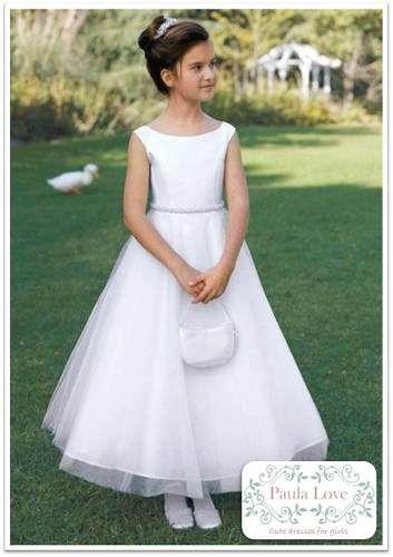 Vestido De Comunion. Modista Alta Costura. - $ 850,00