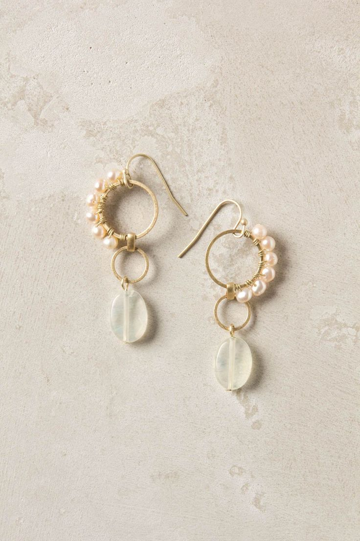 Crested Pearl Earrings  Anthropologie