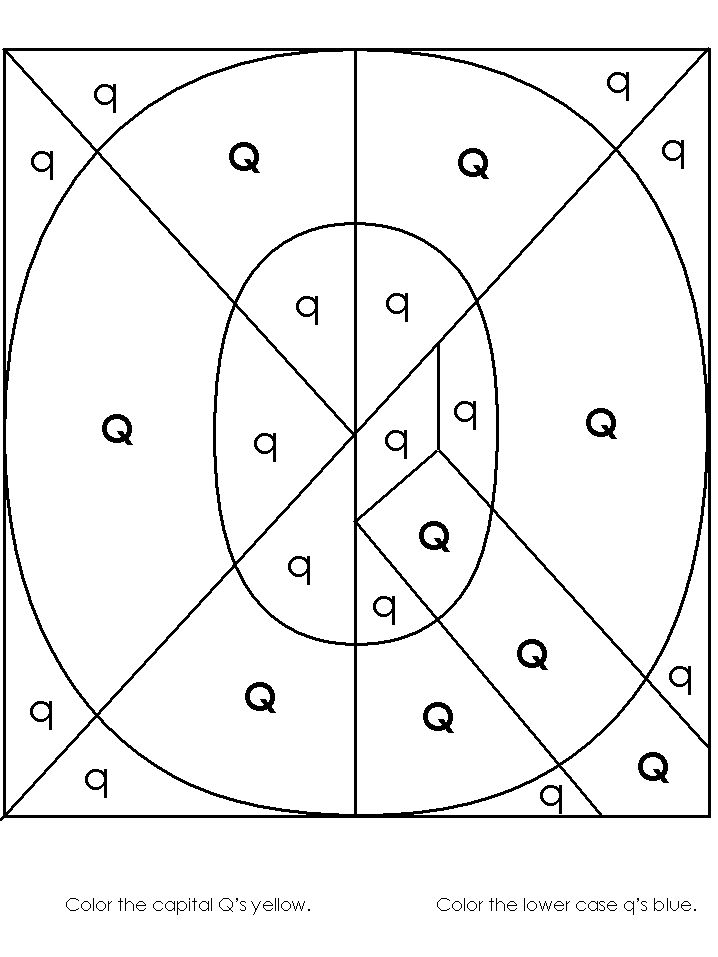 Hidden Letter Worksheets - Letter Q Letter of the Week Q - new hidden alphabet coloring pages