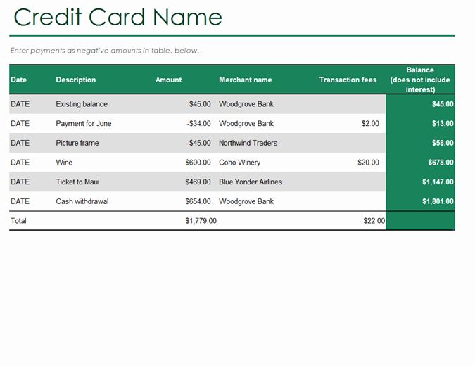 Excel Template Credit Card Payoff Luxury Credit Card Log In 2020 Paying Off Credit Cards Credit Card Balance Credit Card Statement