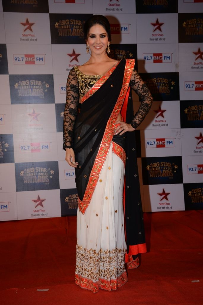 Sunny Leone looked lovely on the red carpet at the Big Star Entertainment Awards.