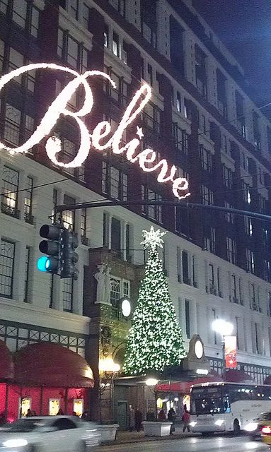 Macy's at Christmas in New York. I grew up going to Macy's with my mother. Macy's Basement rocked! #newyork #macys #christmas