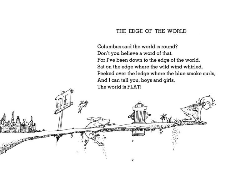 Shel Silverstein Poems: Shel Silverstein - The Edge Of The World (740×550)