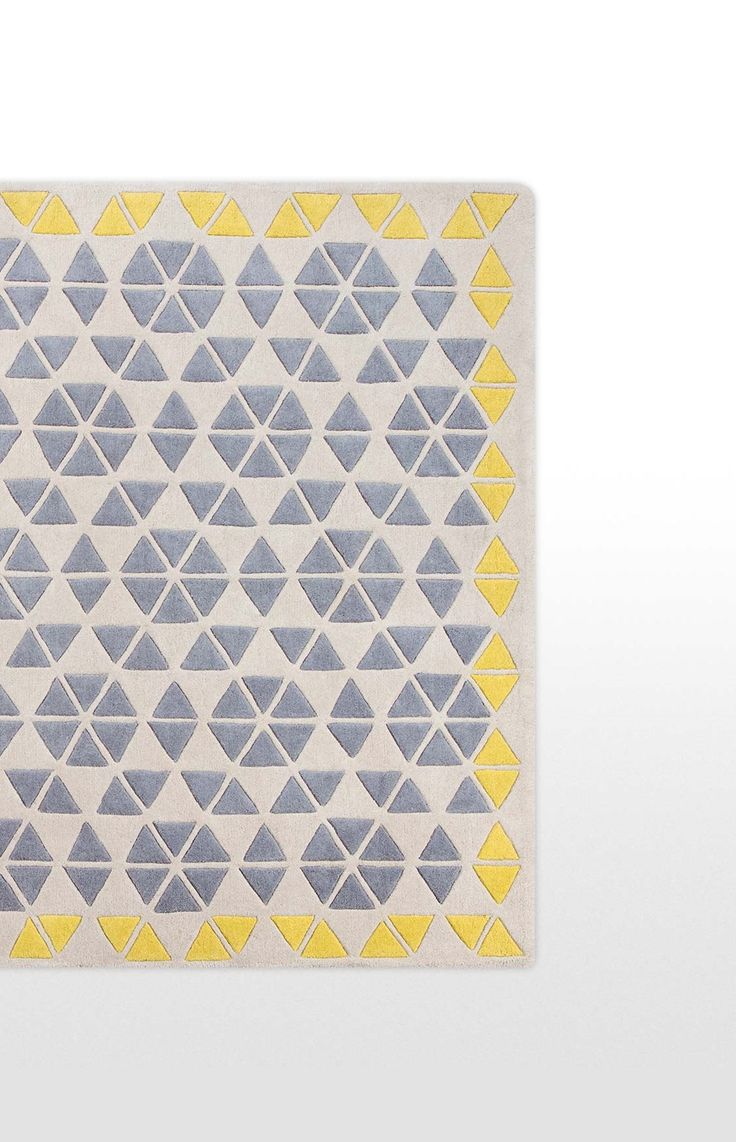The Trio Rug, in Grey and Mustard. Treat your feet to some luxury. £269. MADE.COM