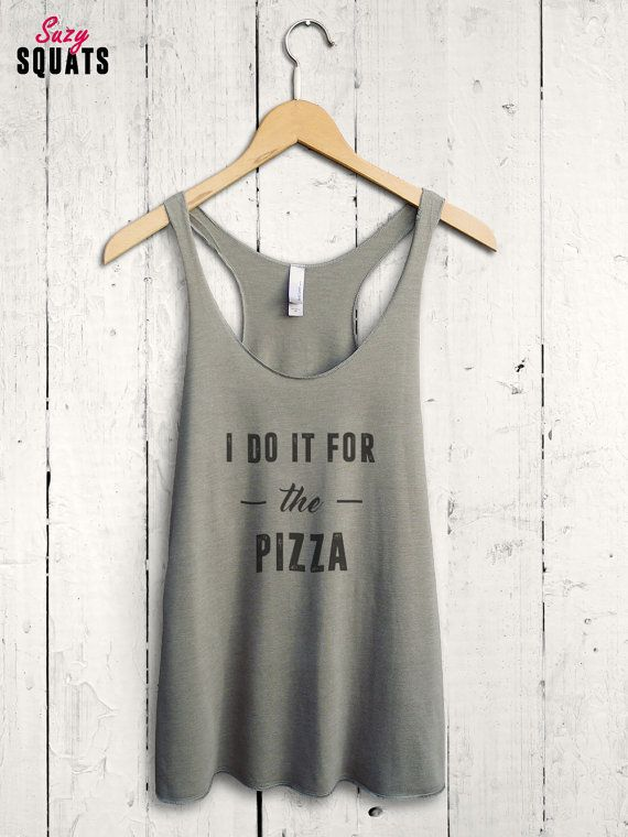 Funny Pizza Shirt pizza workout shirt pizza gym top by SuzySquats
