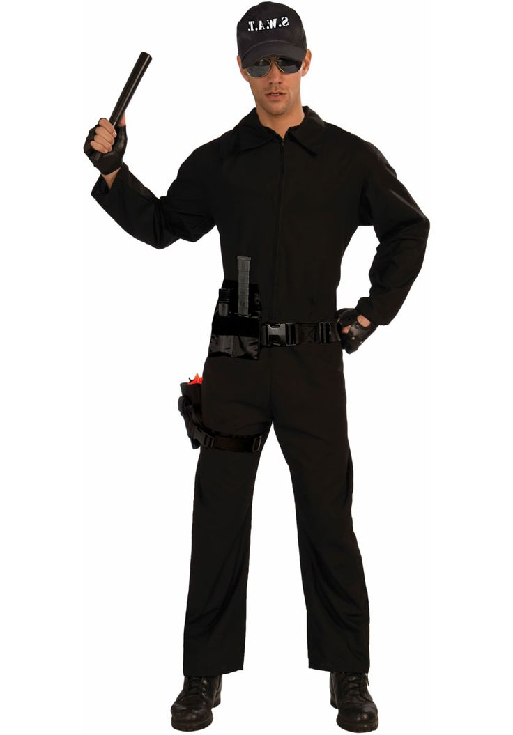 Adult SWAT Costume, Special Police Fancy Dress Uniform - Occupations Costumes at Escapade