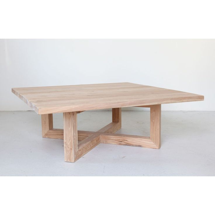 Contemporary Square Wooden And Timber Coffee Table In