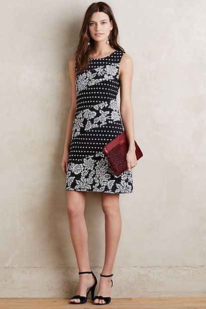 Anthropologie EU Effemy Floral Shift Dress, Black, Style No. 7130336419680