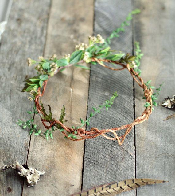 Göttin Blatt Krone Stirnband Woodland von gardensofwhimsy auf Etsy