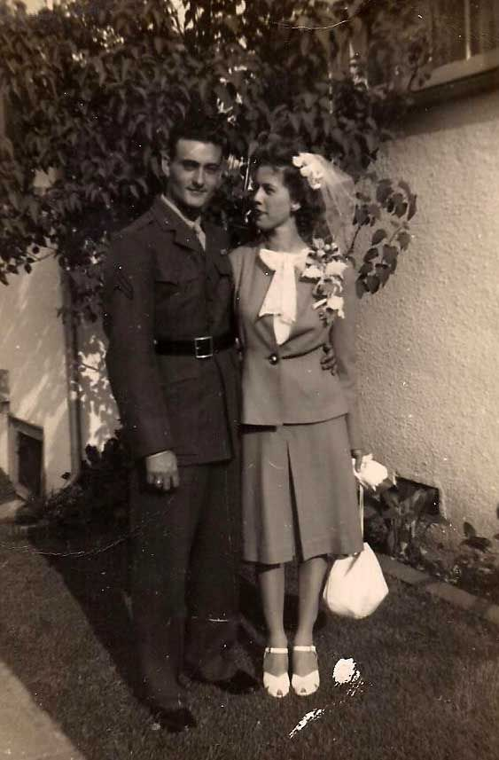 1940's wedding - uniform and suit for the bride. :)