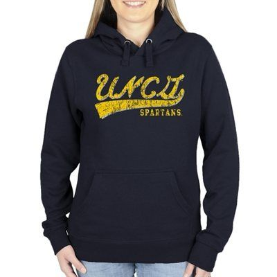 UNCG Spartans Ladies All-American Secondary Pullover Hoodie - Navy Blue