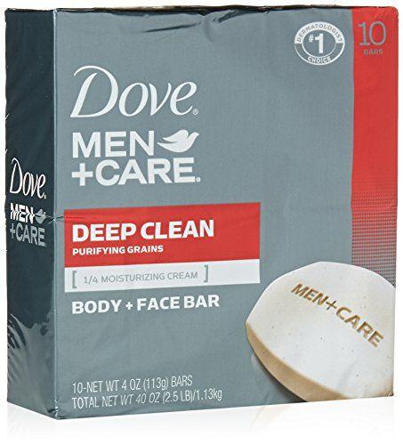 Dove MenCare Body and Face Bar Deep Clean 4 oz 10 Bar