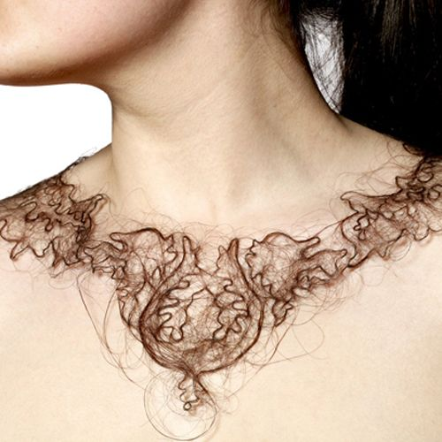 Necklaces Made of Human Hair by Artist Kerry Howley - Beautiful, creepy and gross all at once