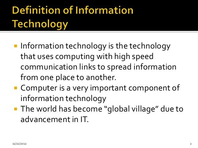 Introduction To Information Technology Lecture 1 Essay Topic Computer