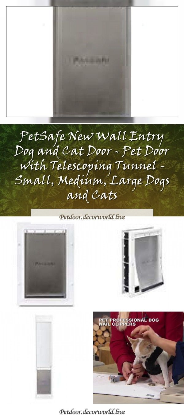 Petsafe Plastic Pet Door With Soft Tinted Flap Small Medium Large And X Large Door For Dogs And Catspetsafe Plastic Pet Door With So In 2020 Pet Door Cat Door Pets