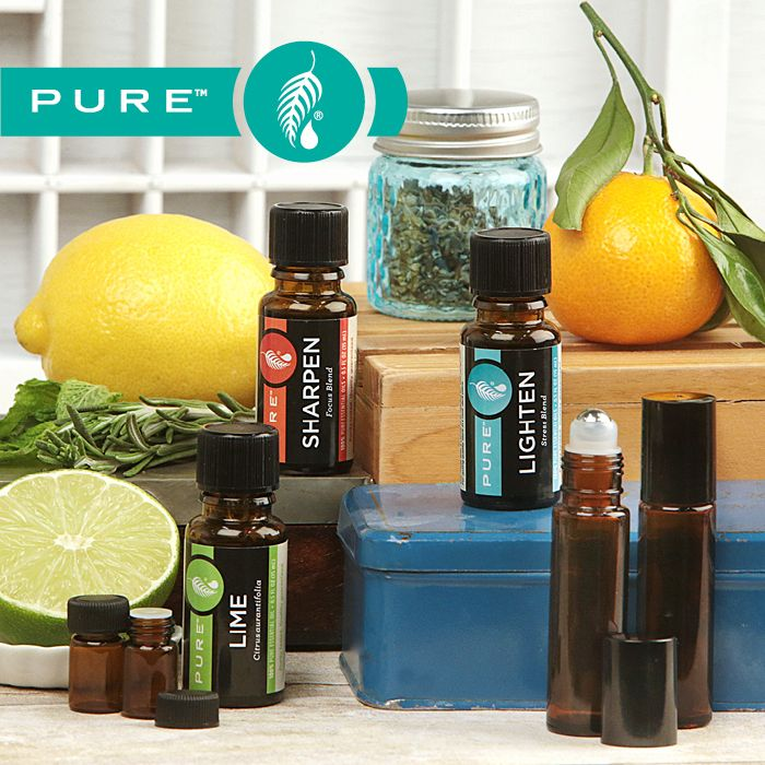Discover the therapeutic, mood-boosting benefits of 3 new PURE™ Essential Oils, available only at Melaleuca. But that's not all: With new PURE Roll-On Bottles and Mini Bottles, applying and sharing your favorite oils has never been easier.