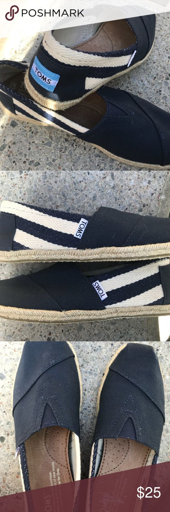Toms espadrilles size 5.5 NWOB Toms espadrilles shoes flat shoes   NWOB it was sitting for long time so bit dusty but no sign of wear   There was sticker inside  it I couldn't get rid of every bit but it will come off maybe when it's wet or something but I didn't wanna do it Toms Shoes Espadrilles