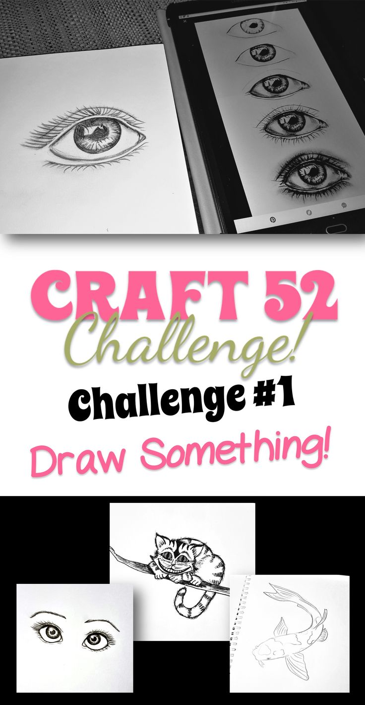 Week One of the Craft 52 Challenge! Get your free printable checklist and start the challenge today! #craft52challenge #livingacreativeworld #learntodraw