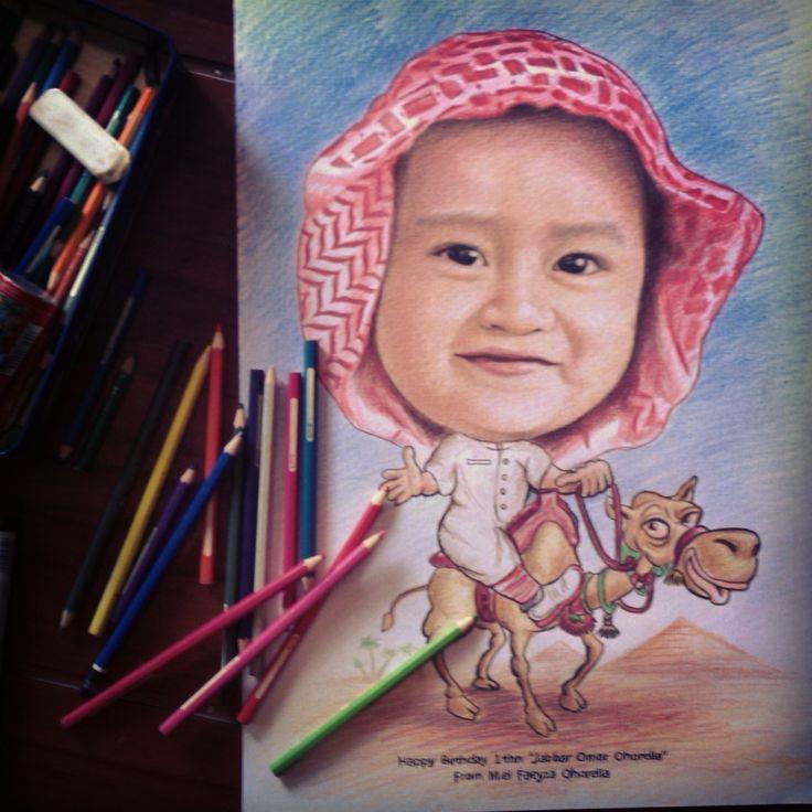 Jasa Karikatur Art portrait caricature Drawing handmade