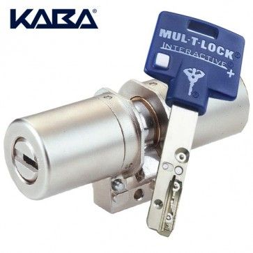 Cylindres Monoblocs Mul-T-Lock Interactive + compatibles FICHET 787 484 Bablock - Cet adaptable pour serrure Fichet est interchangeable avec un cylindre monobloc Fichet 787. Vous bénéficiez en posant cet adaptable de la haute sûreté avec clefs réversibles Interactive + de Mul-T-Lock.