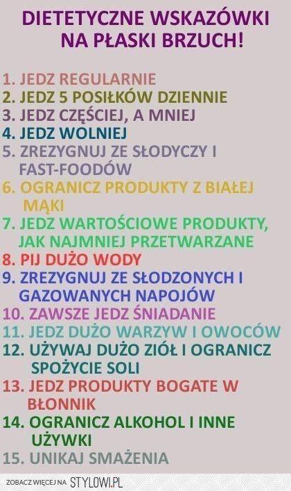 DIETETYCZNE WSKAZÓWKI NA PŁASKI BRZUCH na Stylowi.pl