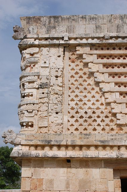 Relief of ancient Maya city Uxmal in Mexico by yago1.com, via Flickr