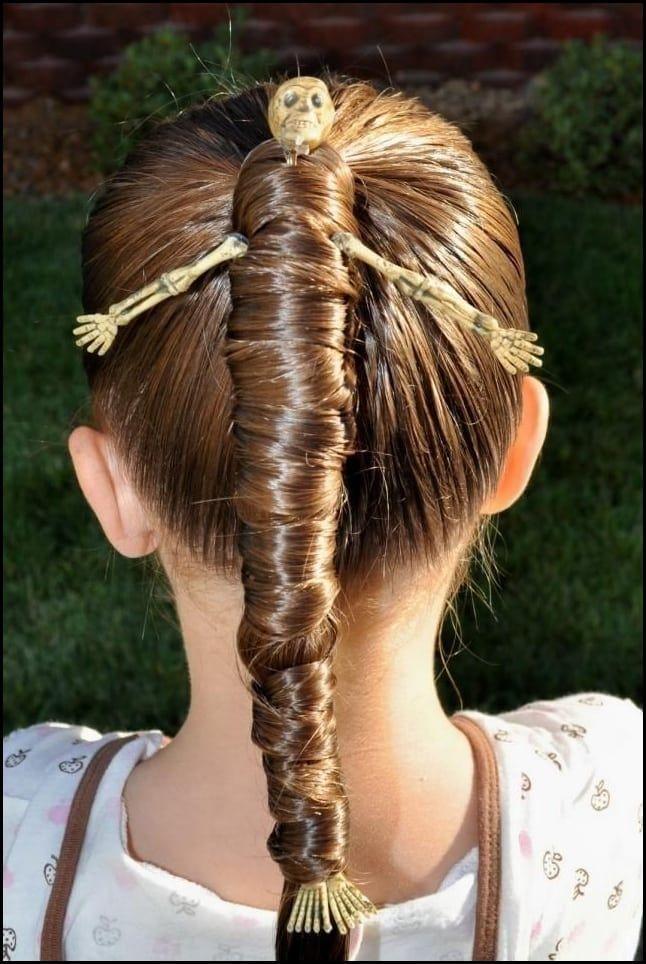 Lustige Kinder Frisuren Halloween Ideen Skelette Zopf Kostume Meine Frisuren Halloween Frisuren Kinderfrisuren Halloween Haar