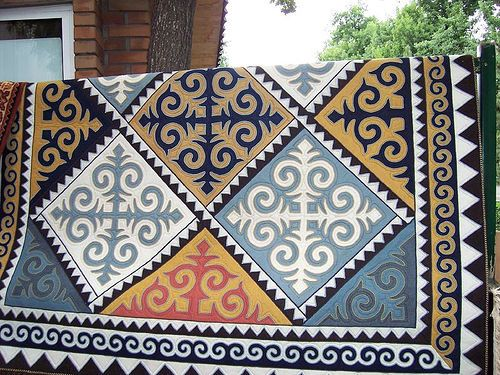 Shyrdaks (rugs) from Kyrgyzstan. I love these designs and actually have 2 (small) Kyrgyz rugs in my home!