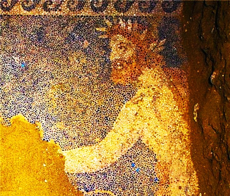 Greece-Amfipoli Tomb- PLOUTO- The God of the UnderWorld ! Part of the uncoverd floor mosaik