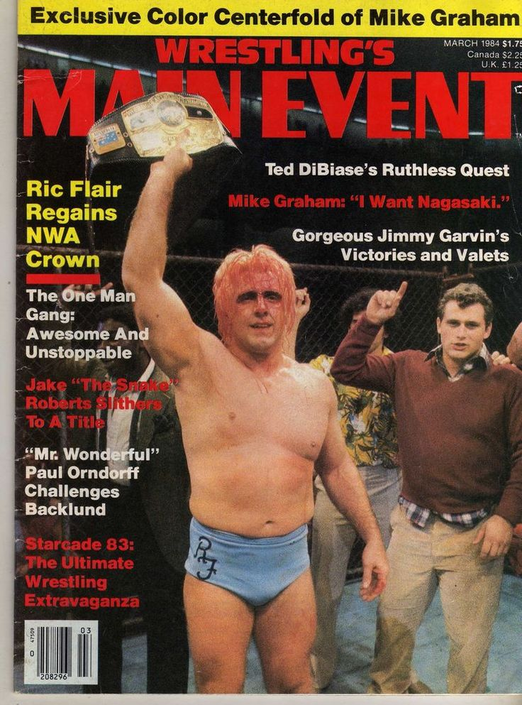 wrestlings main event march 1984 ric flair harley race starrcade (acceptable) from $13.99