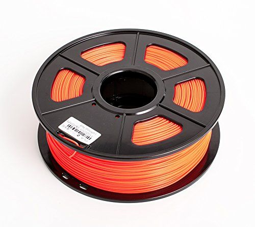 SUNLU 3D Printer Filament PLA , No Bubbles, No Need to Heat, Dimensional Accuracy  /- 0.02 mm, 1 kg Spool, 1.75 mm, Noctilucent Red *** Visit the image link more details.