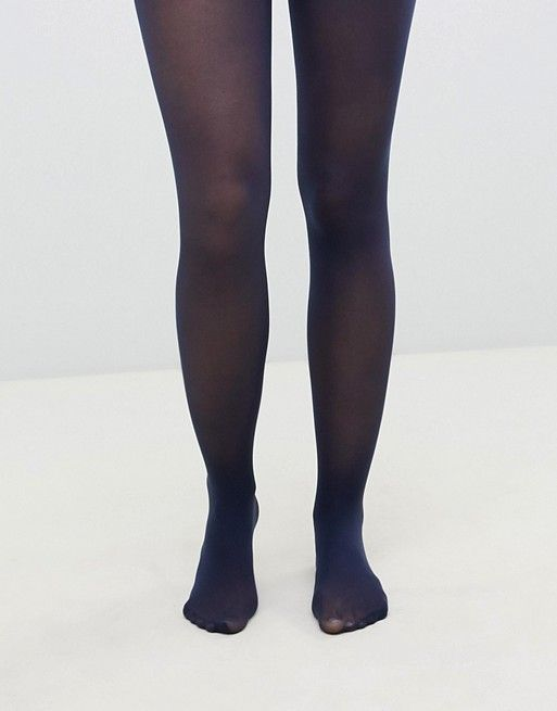 4b17a4043 DESIGN recycled 40 denier tights in navy in 2019