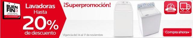Ofertas Buen Fin: Lavadoras con hasta 20% de descuento, en Coppel. Buen Fin, del 14 al 17 noviembre de 2014. #Promo #BuenFin