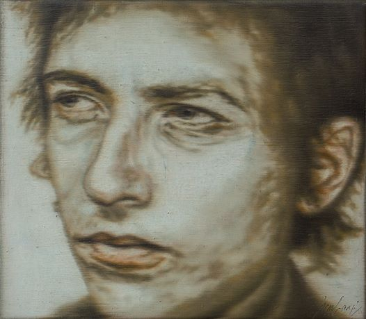 Ivar Kaasik, Bob Dylan 2009, Öl auf Leinwand Oil on canvas, 26 x 30 cm