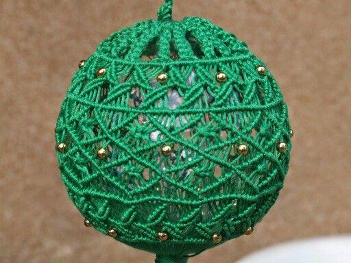 Palla natale verde filo rbc