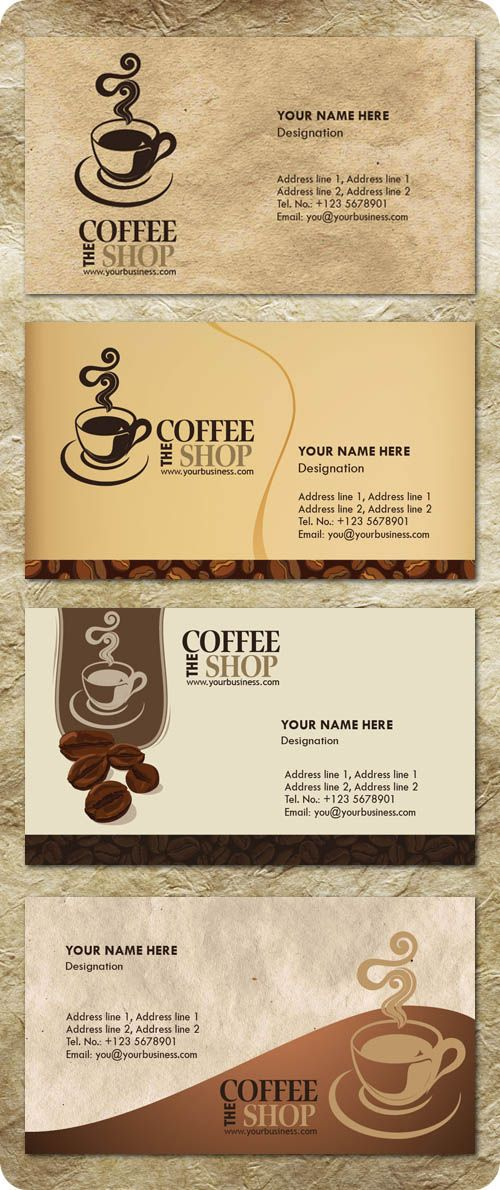 free templates business card for coffee shop - Google Търсене