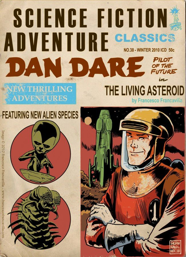 """DAN DARE in """"THE LIVING ASTEROID""""Science Fiction Adventure ..."""
