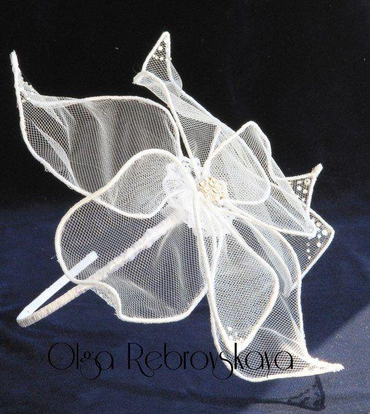 """Свадебная шляпка """"Лилия"""""""