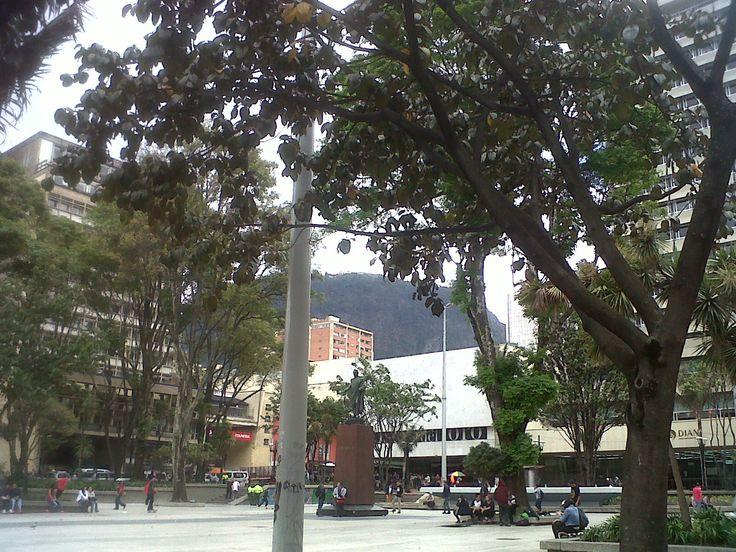 Parque de Santander, centro histórico, Bogotá.