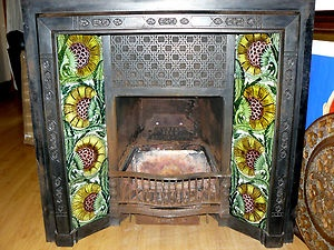 1000 images about aesthetic movement collection on for Arts and crafts tile fireplace