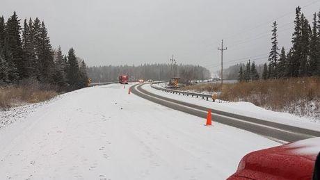 Semi-trailer truck rolls into ditch along Highway 10 - http://www.newswinnipeg.net/semi-trailer-truck-rolls-into-ditch-along-highway-10/