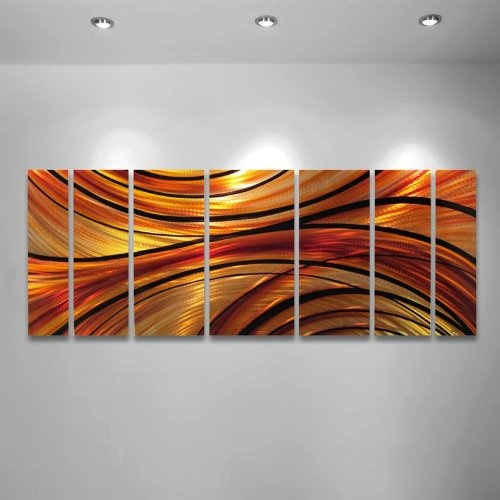 Mirage modern abstract metal wall art painting sculpture decor