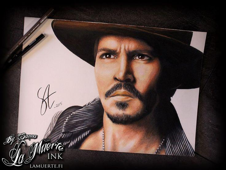 Johnny Depp potrait by Sanna Angervaniva @ La Muerte Ink