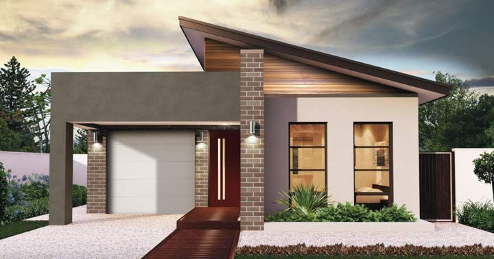 Design Nineteen Facade 2 - from the Weeks and Macklin Homes Choice Series. Designed with function in mind. This is the ideal home for a family. Whilst simplistic in design it has everything a family needs, complete with 3 bedrooms, two bathrooms and a spacious open living area. #weeksmacklinhomes #house #home #facade